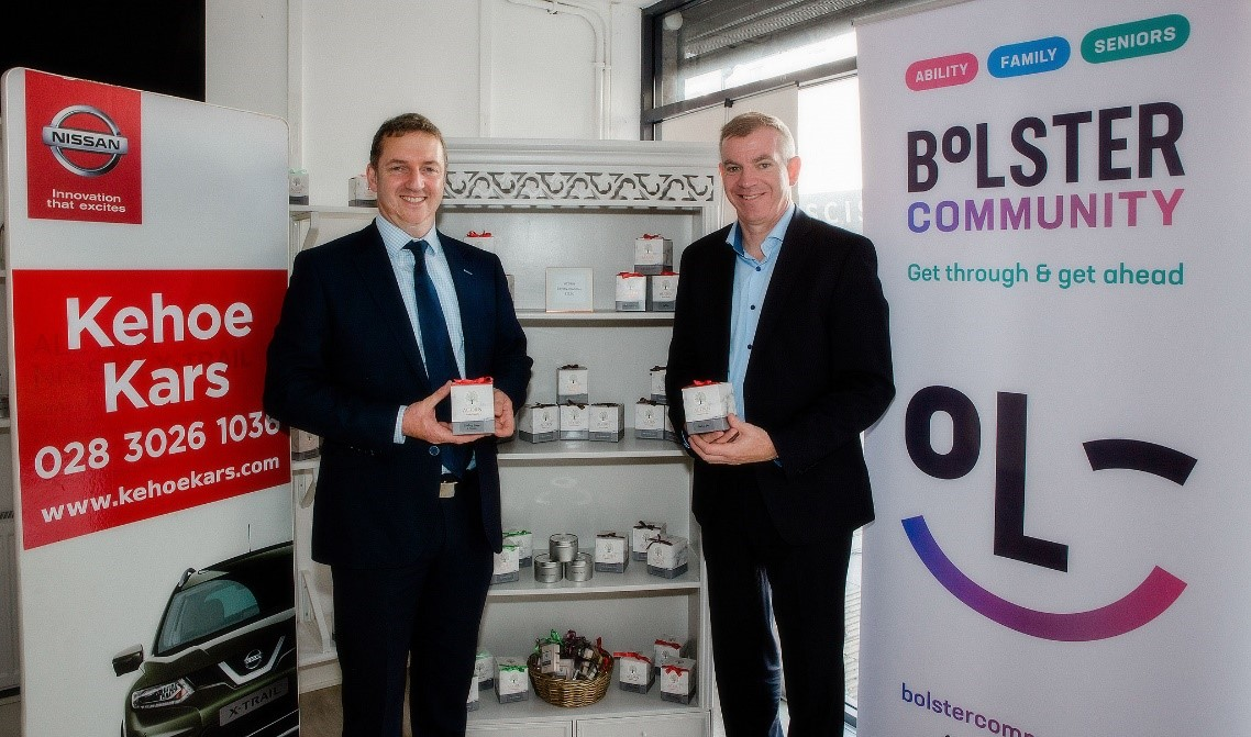 Kehoe Kars adopts 'buy social' partnership with Bolster Community to help the charity meet the surge in demand for its community support services.